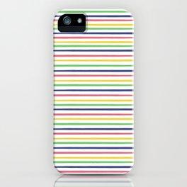lovely stripes navy iPhone Case