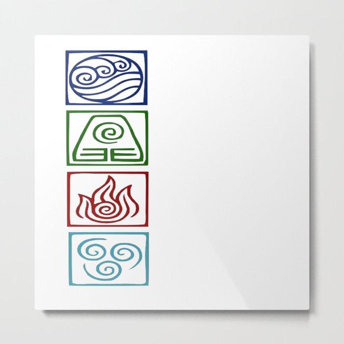The 4 elements Metal Print