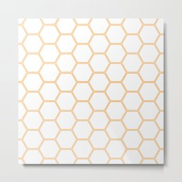 Honeycomb Orange #271 Metal Print