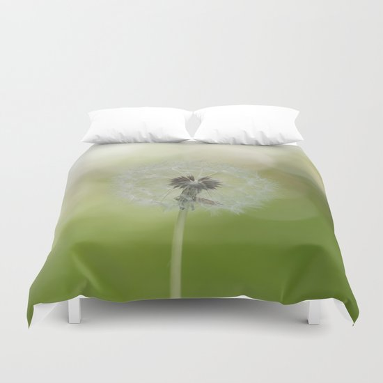 Dandelion in LOVE Duvet Cover