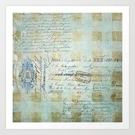 carnet de chèques Art Print