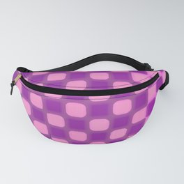 Checker Game: Violet and Pink Fanny Pack