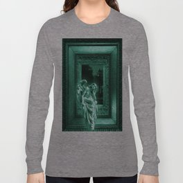 Angel of Bristol (Blue/Green - Cyan) Long Sleeve T-shirt