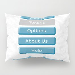 Picture of the interface with the image of 3D buttons for mobile Apps. Pillow Sham