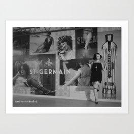 The Wall Of Germain Art Print