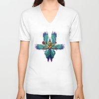 celestial V-neck T-shirts featuring Celestial by Estel Lia