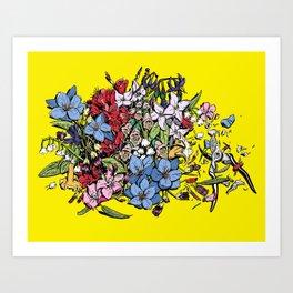 Flowers in Color Art Print