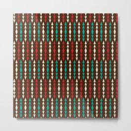 Tribal Stripe Metal Print