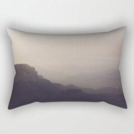 Smoky Hazy Sunset in the Grand Canyon Rectangular Pillow
