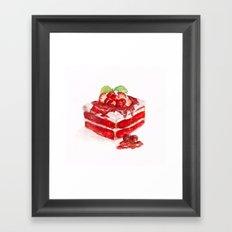 Red velvet cake Framed Art Print