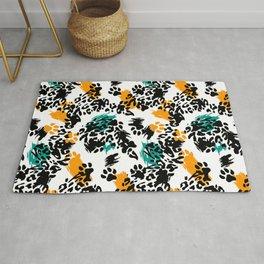Beautiful leopard texture pattern Rug