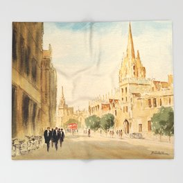 Oxford High Street Throw Blanket