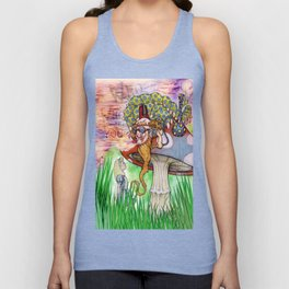 Alice and the Caterpillar Unisex Tank Top