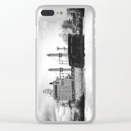 Boat on the St-Lawrence river Clear iPhone Case