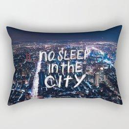 No Sleep in the City Rectangular Pillow