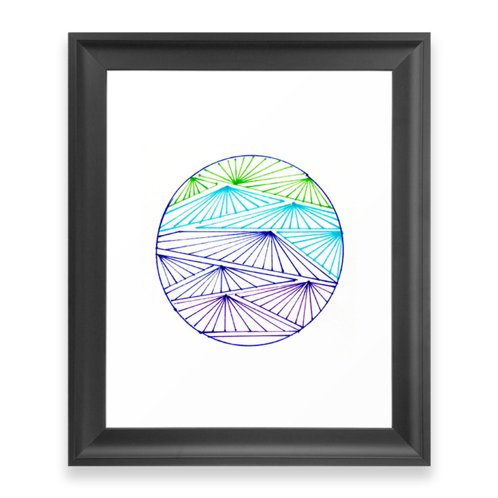 Beach Fans and Parasols Framed Art Print by brightapril (FRM9382655) photo