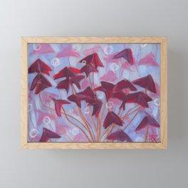 Oxalis, Blue & Burgundy version Framed Mini Art Print