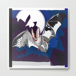 bat pattern Metal Print