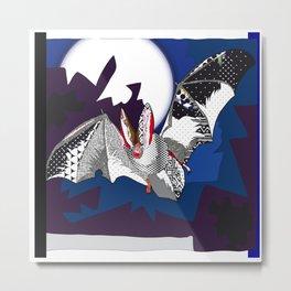 bat pattern Metal Print