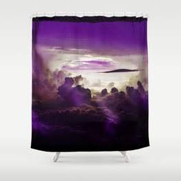 I Want To Believe - Purple Shower Curtain