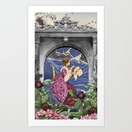 THE HIGH PRIESTESS TAROT CARD Art Print