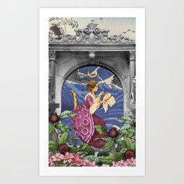 THE HIGH PRIESTESS TAROT CARD Art Print