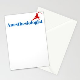 Anesthesiologist Ninja in Action Stationery Cards
