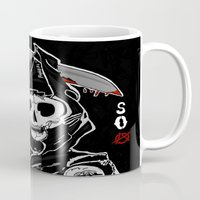 sons of anarchy Mugs featuring Sons Of Anarchy (Reaper) by ItalianRicanArt