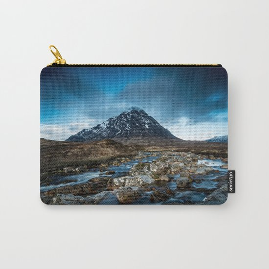 Mountain ice clouds blue Carry-All Pouch