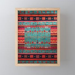 Anthropologie Ortiental Traditional Moroccan Style Artwork Framed Mini Art Print