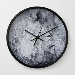 Iced Asphalt Wall Clock