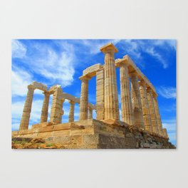 The Temple of Poseidon at Sounion I Canvas Print