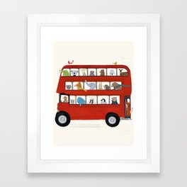 the big little red bus Framed Art Print