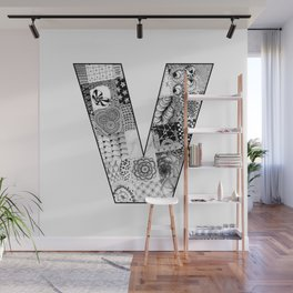 Cutout Letter V Wall Mural