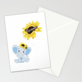 Happiness Is Being A Nonna Elephant Sunflower T-Shirt Stationery Cards
