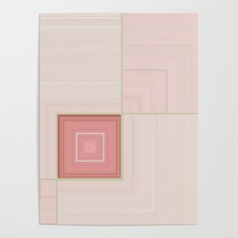 Pastel Pinks and Mints Pattern Design Poster