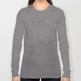 Grey Hexagons Long Sleeve T-shirt