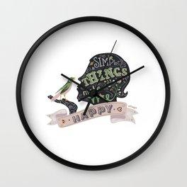 Simple Things Wall Clock