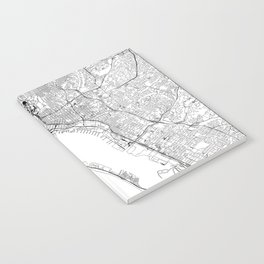 San Diego White Map Notebook