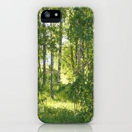 Beautiful Morning Summer Greenery #decor #society6 #buyart iPhone Case