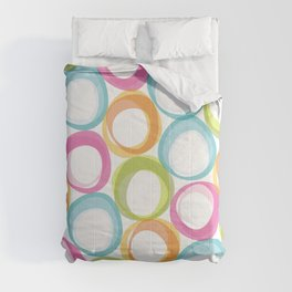 Soft pastel circles Comforters