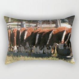 All Lined Up. Rectangular Pillow