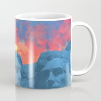 rushmore Mugs featuring Mt Rushmore by Calepotts