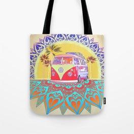 """BusLife Vintage Inspired """"Live Free"""" Poster print Tote Bag"""