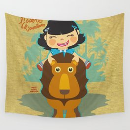 J'adore l'aventure Wall Tapestry