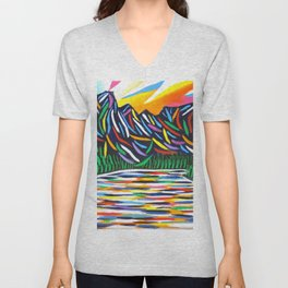 Lake Louise Art Unisex V-Neck