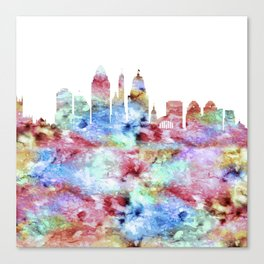 Cincinnati City Skyline Ohio Canvas Print