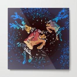Christmas colored deer Metal Print