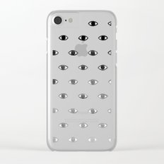 Evil Eye Ombre Clear iPhone Case