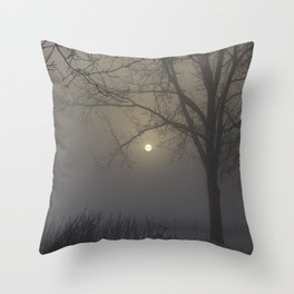 A Cold Winter Morning in Wisconsin Throw Pillow